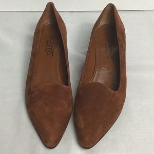Paloma brown suede heels. 7.5B